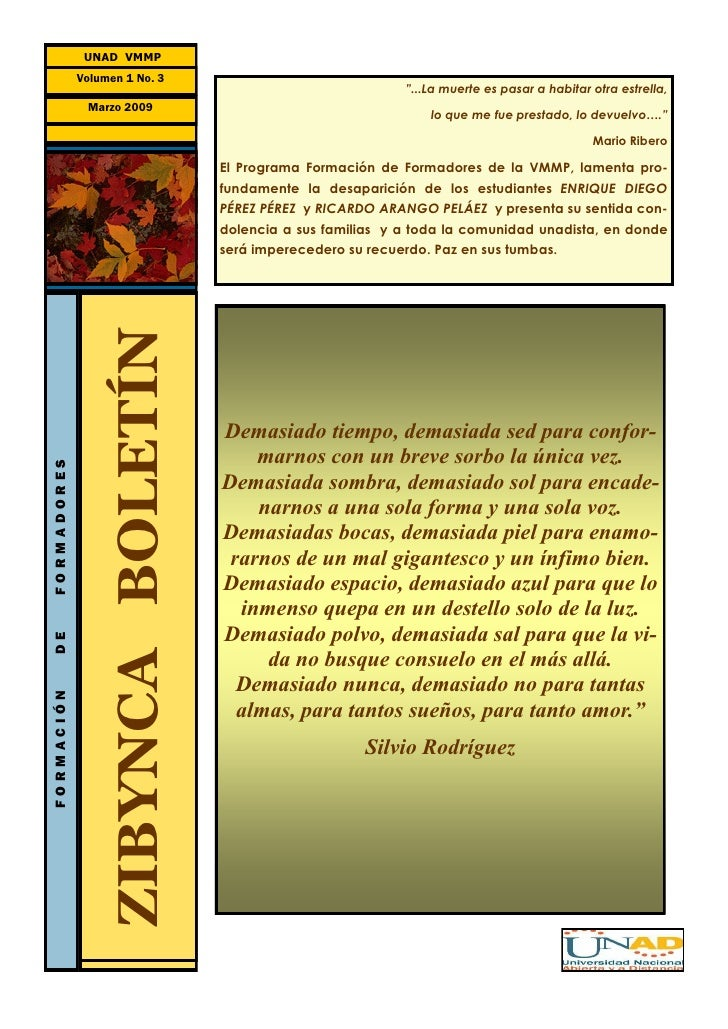 Zibynca Boletín  No.3