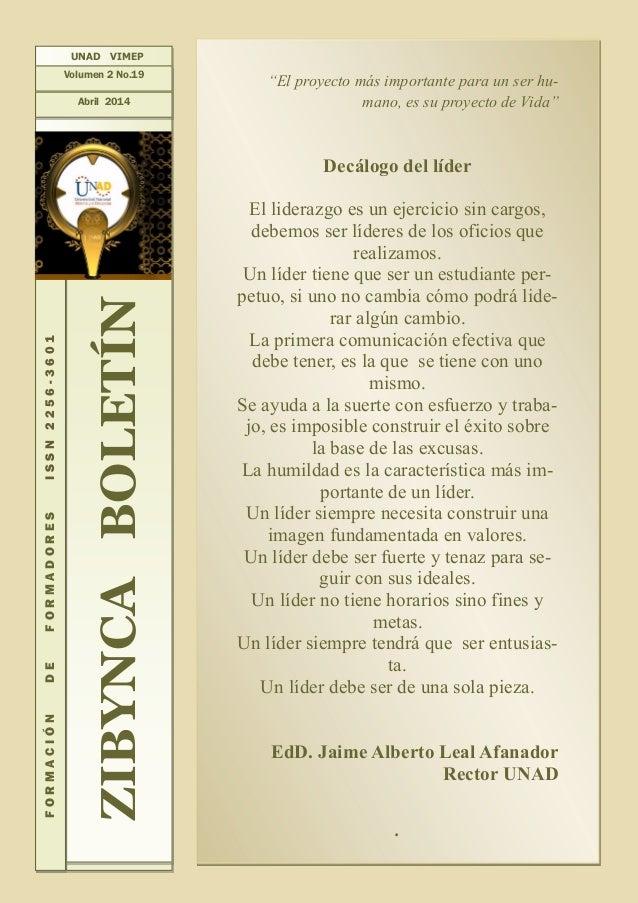 Zibynca Boletín Vol.2 No.19