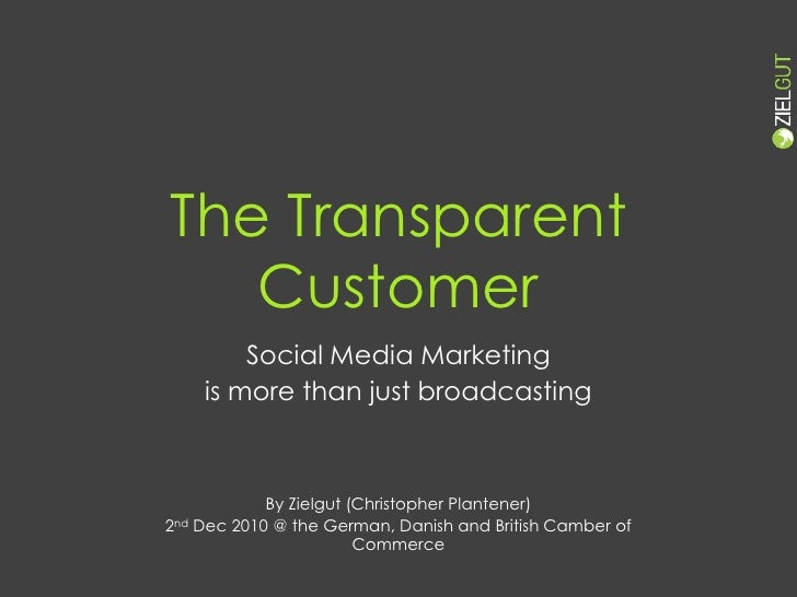 Social Media Marketing <br />is more than just broadcasting<br />By Zielgut (Christopher Plantener)<br />2nd Dec 2010 @ th...