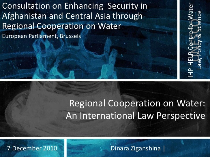 Consultation on Enhancing Security in                                                       IHP-HELP Centre for Water     ...