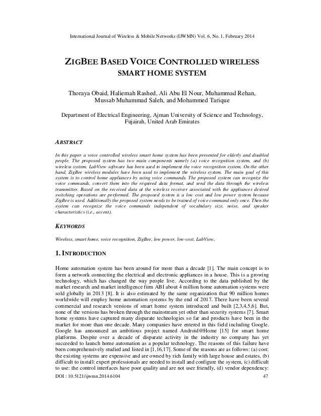 International Journal of Wireless & Mobile Networks (IJWMN) Vol. 6, No. 1, February 2014 DOI : 10.5121/ijwmn.2014.6104 47 ...