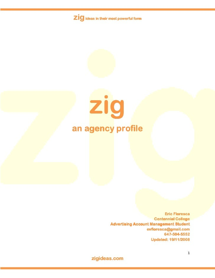 zig ideas in their most powerful form             zig an agency profile                                                   ...