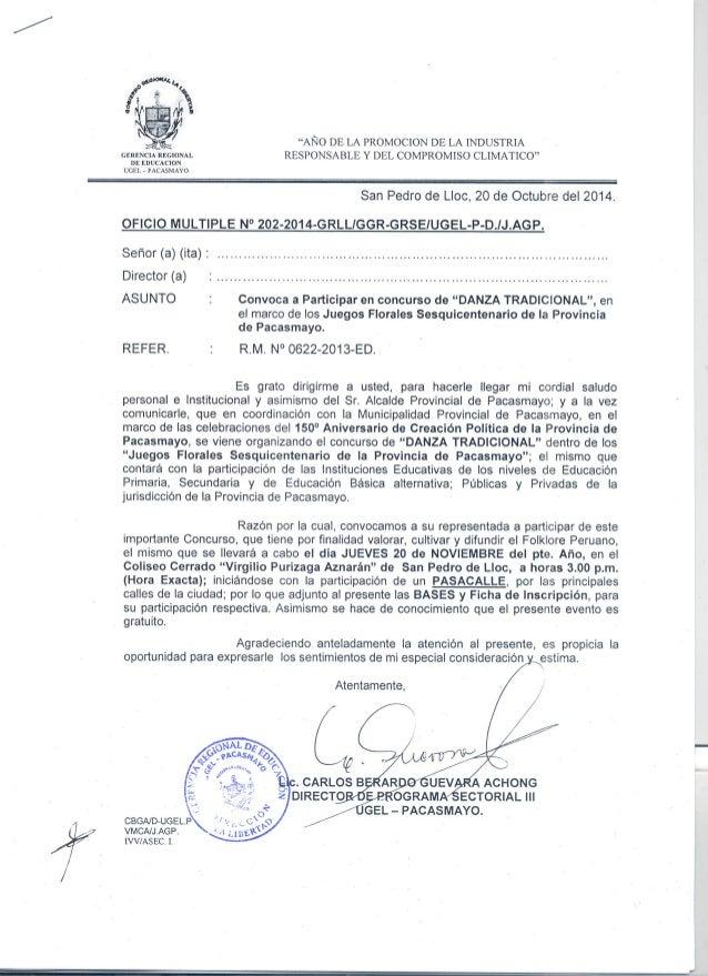 """""""AÑO DE LA PROMOCION DE LA INDUSTRIA RESPONSABLE Y DEL COMPROMISO CLIMATICO""""     GERENCIA REGIONAL DE EDUCACION UGEL — PAC..."""
