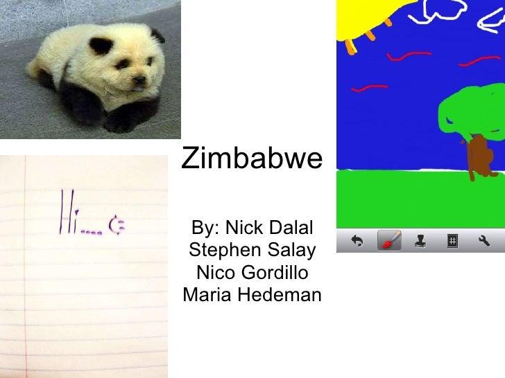 Zimbabwe By: Nick Dalal Stephen Salay Nico Gordillo Maria Hedeman