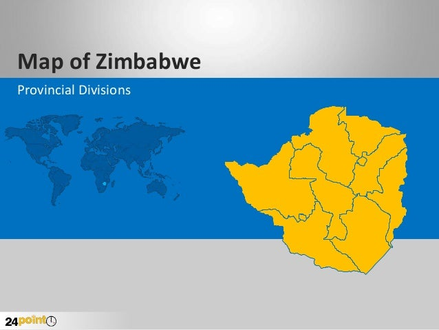 Zimbabwe Map - Editable PowerPoint Presentation