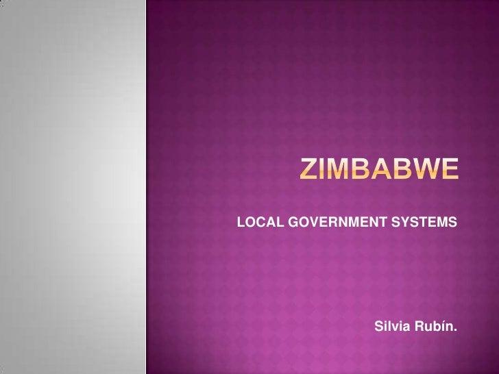 LOCAL GOVERNMENT SYSTEMS                   Silvia Rubín.