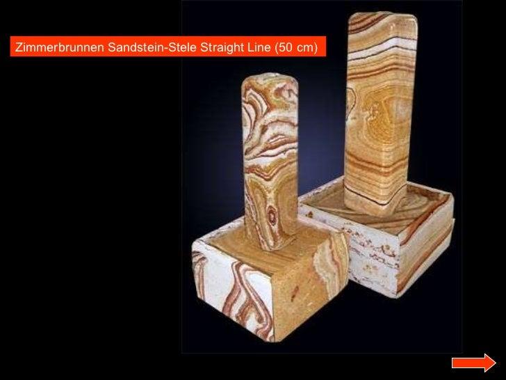 Zimmerbrunnen Sandstein-Stele Straight Line (50 cm)