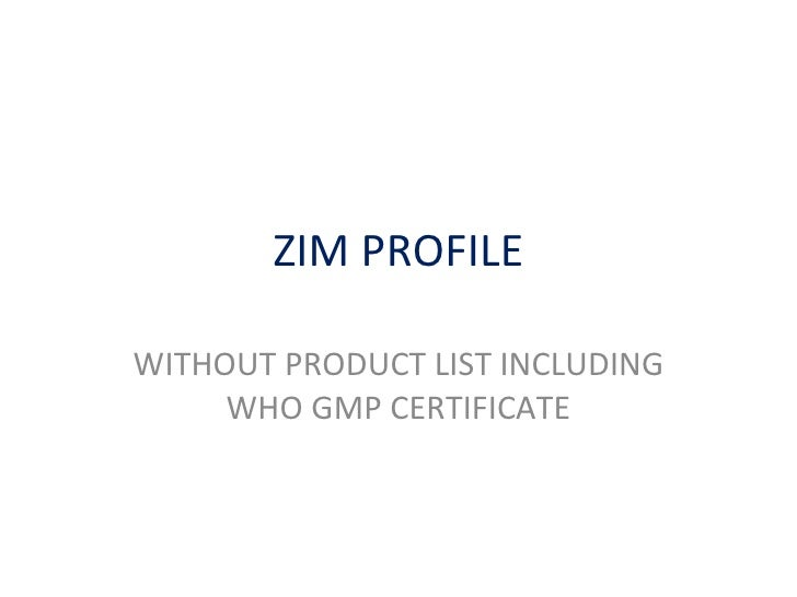 Zim Profile Without Product List