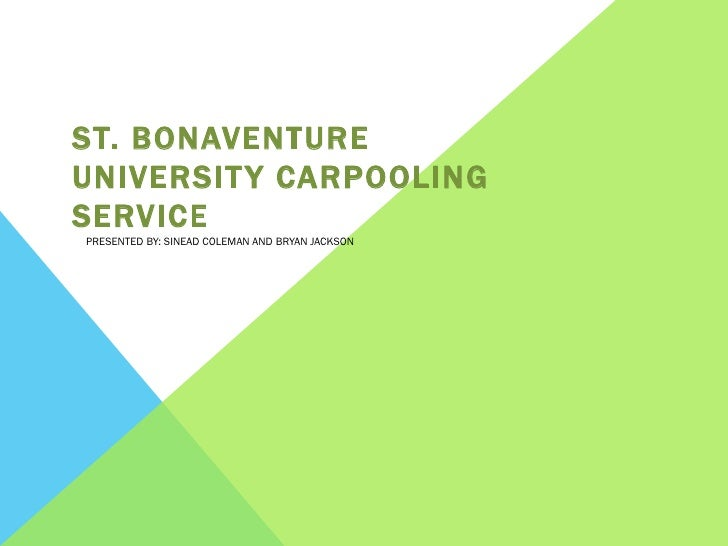 Carpooling Network Presentation