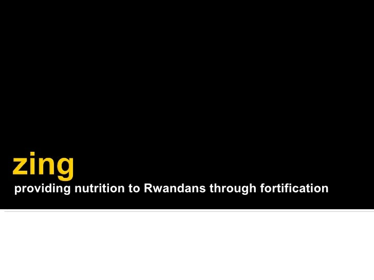 providing nutrition to Rwandans through fortification
