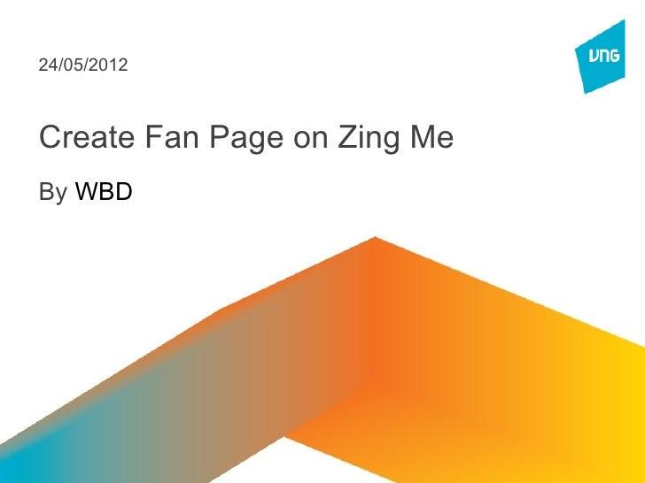 Zingme fanpage guideline