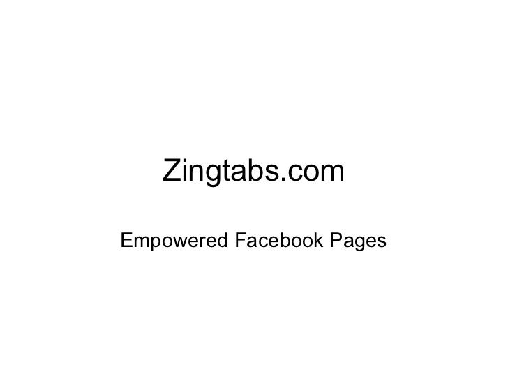 Zingtabs.com Empowered Facebook Pages