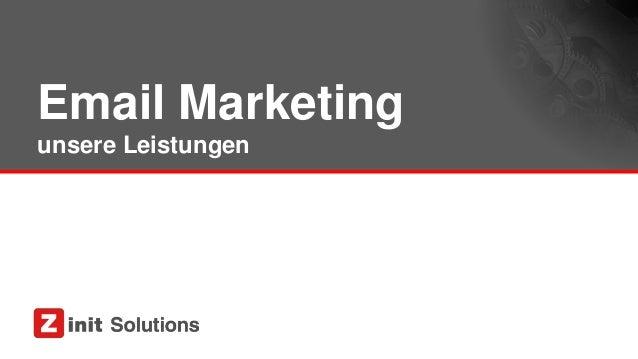 Email Marketing unsere Leistungen