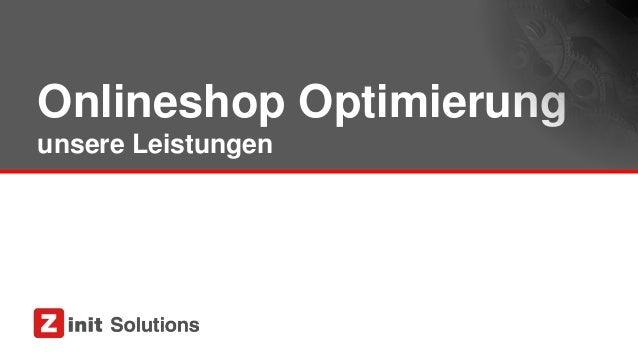 Onlineshop Optimierung unsere Leistungen