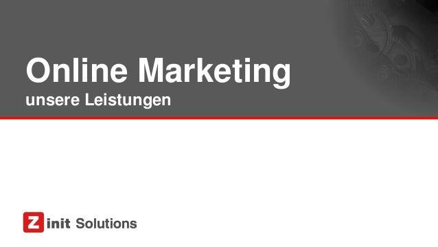 Online Marketing unsere Leistungen