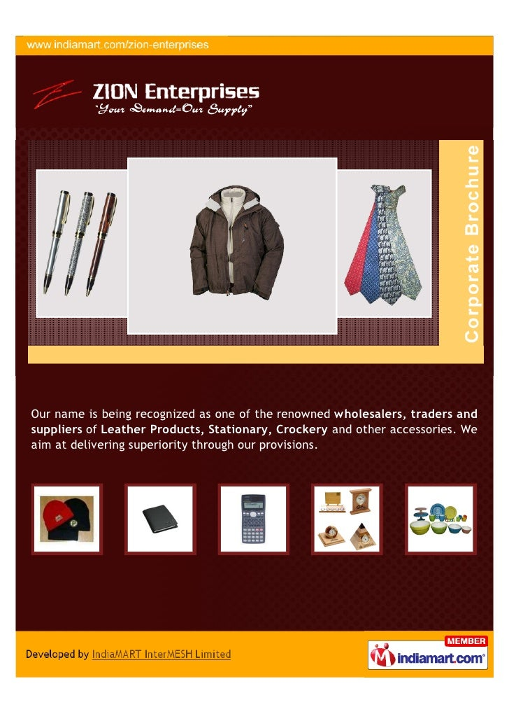 Zion Enterprises, Hyderabad, Leather Products