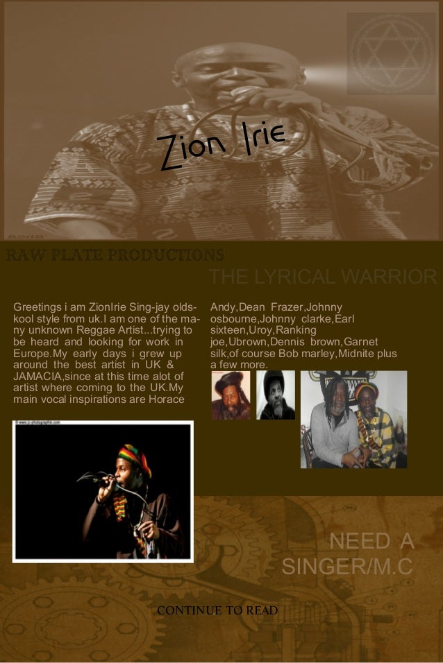 ContemporaryResidential InteriorDesign THE LYRICAL WARRIOR Greetings i am ZionIrie Sing-jay olds- kool style from uk.I am ...