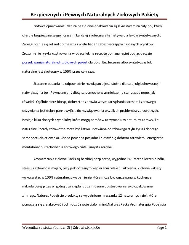 Bezpiecznych i Pewnych Naturalnych Ziołowych Pakiety       Ziołowe opakowania: Naturalne ziołowe opakowania są lekarstwem ...