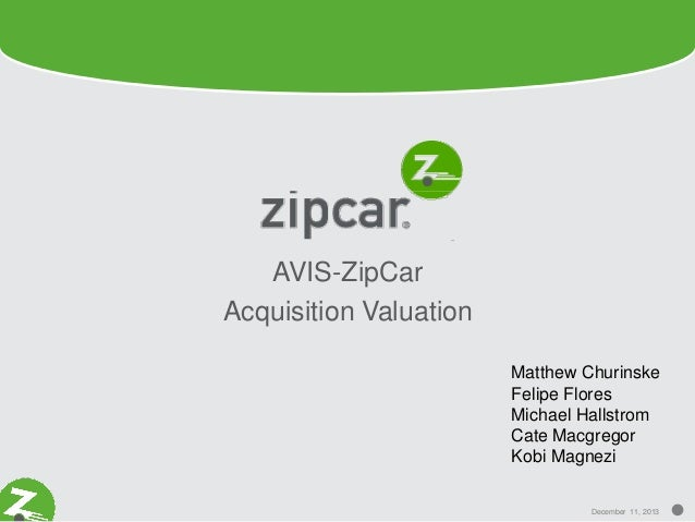 ZipCar Avis Acquisition Valuation