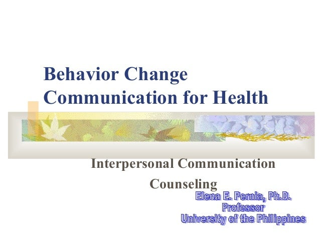 Behavior Change Communication for Health Interpersonal Communication Counseling
