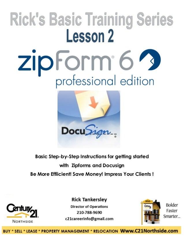 Zipform and Docusign Basics