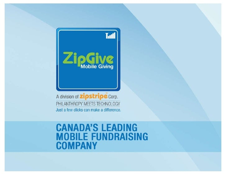 5 X Hot Mobile Technologies Presentation - ZipGive