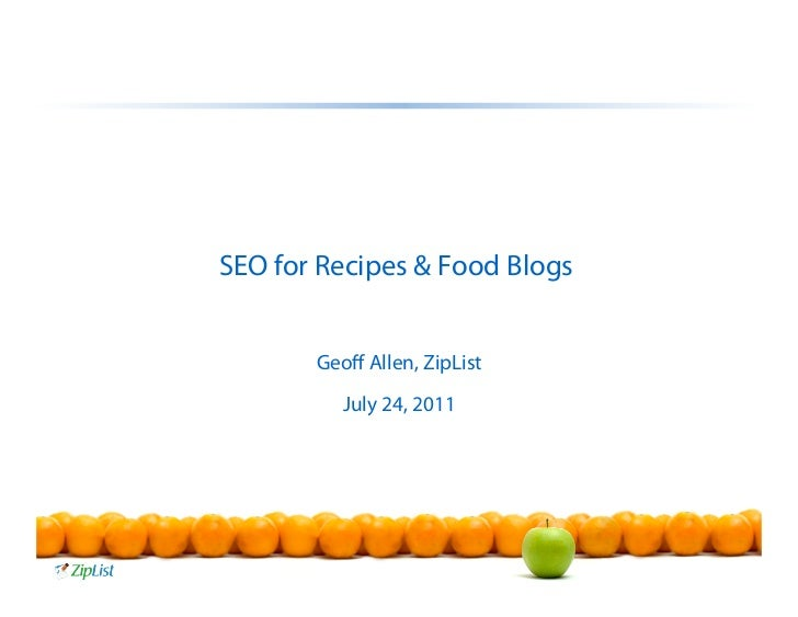 ZipList - SEO for Recipes and Food Blogs