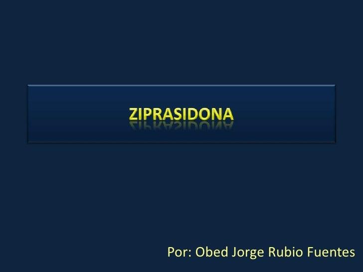 Intoxicación por ziprasidona: seguridad cardíaca<br />Actas españolas de Psiquiatría<br />Por: Obed Jorge Rubio Fuentes<br />