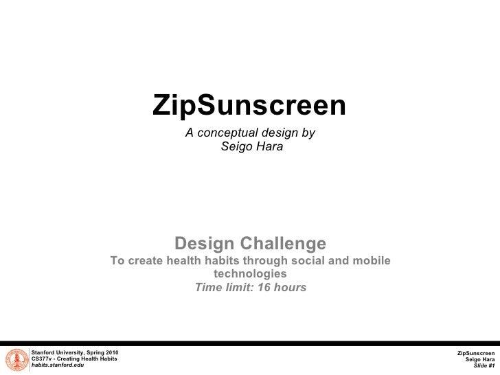 Zip Sunscreen