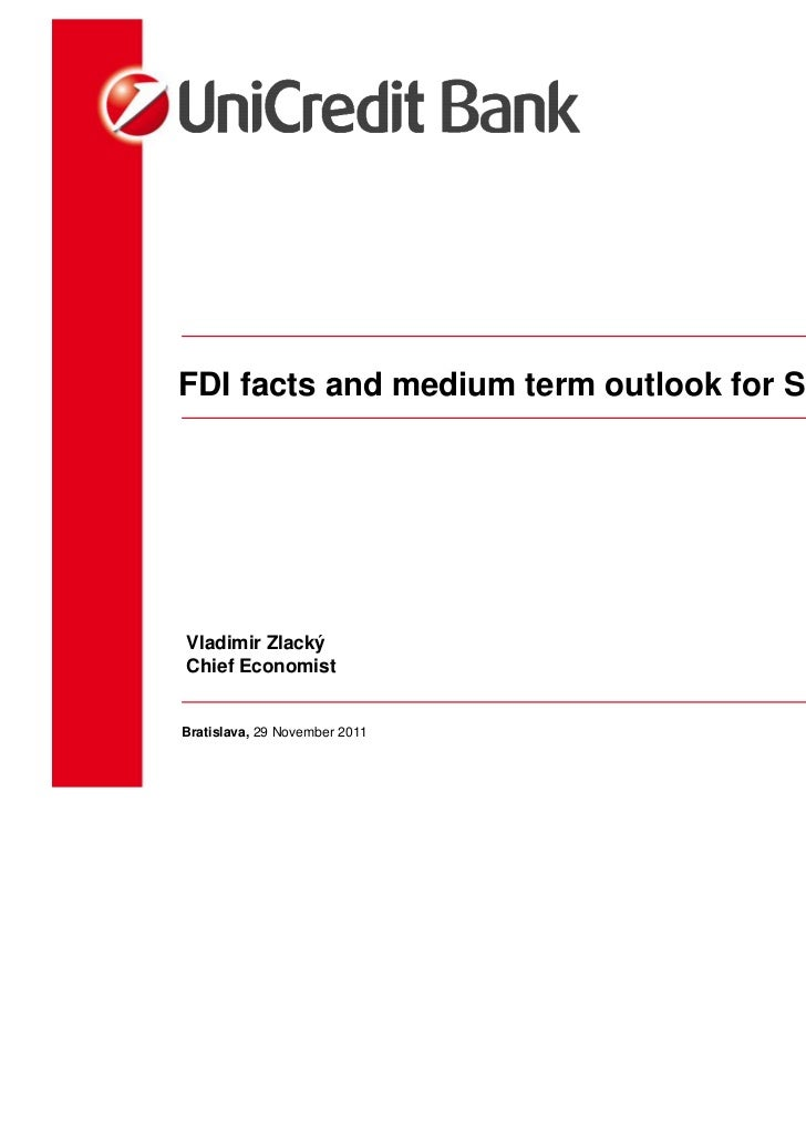 Vladimir Zlacky: FDI facts and medium term outlook for SlovakiaConference 23rd November
