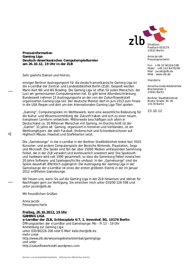 Direktion                                                                                     Postfach 610179             ...