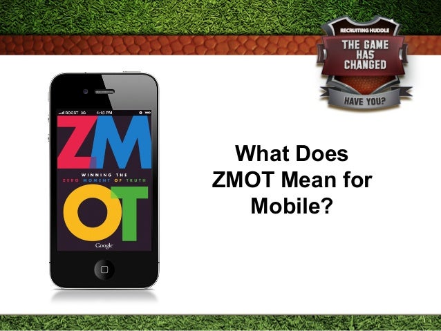 What Does ZMOT Mean for Mobile?