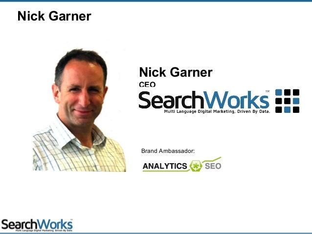 Nick Garner CEO Nick Garner Brand Ambassador: