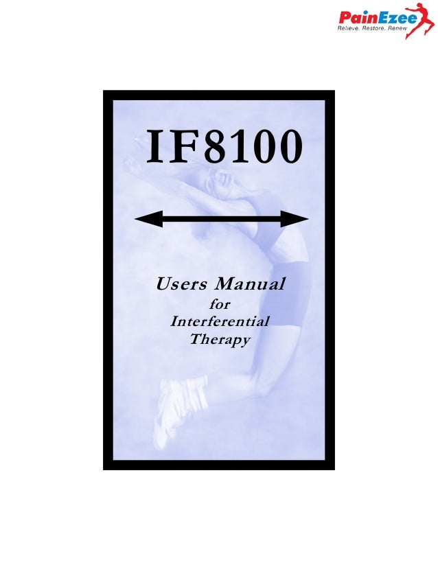 IF8100 Users Manual for Interferential Therapy  Page 1