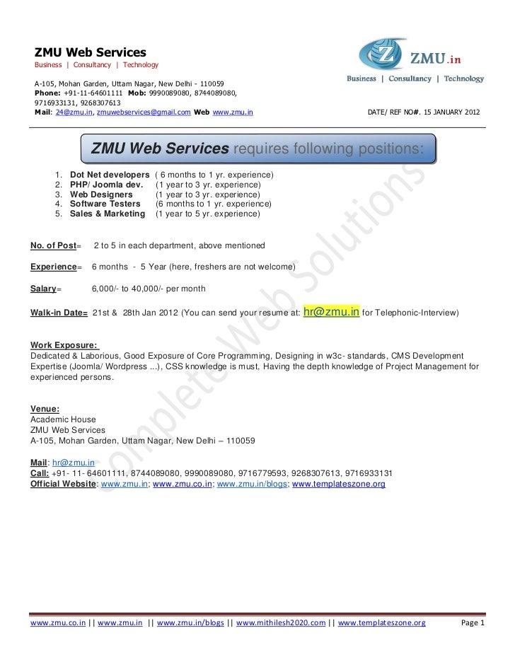 ZMU Web Services Business | Consultancy | Technology A-105, Mohan Garden, Uttam Nagar, New Delhi - 110059 Phone: +91-11-64...