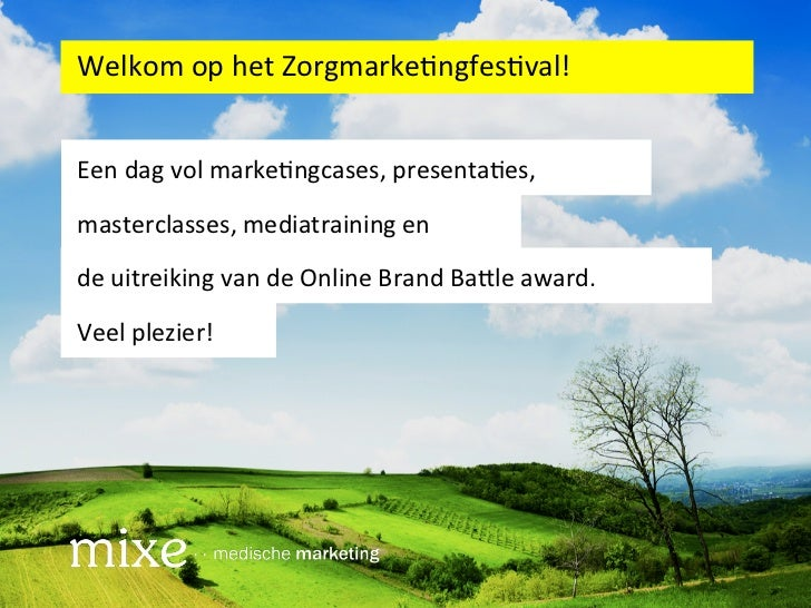 Zorgmarketingfestival Opening Mike Janssen