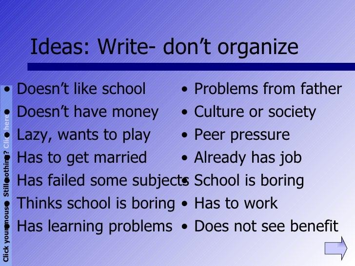 Problem in school essay