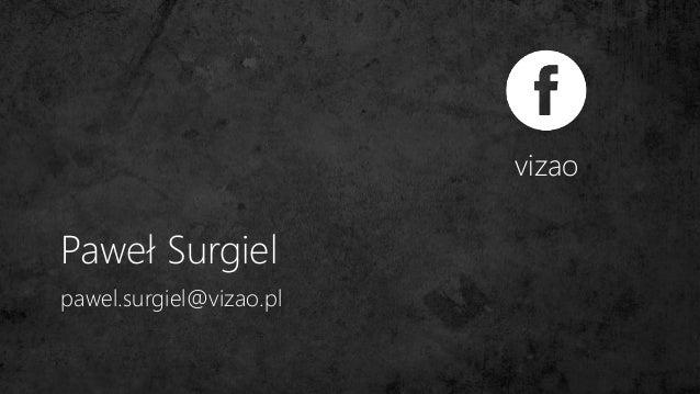 Paweł Surgiel vizao pawel.surgiel@vizao.pl