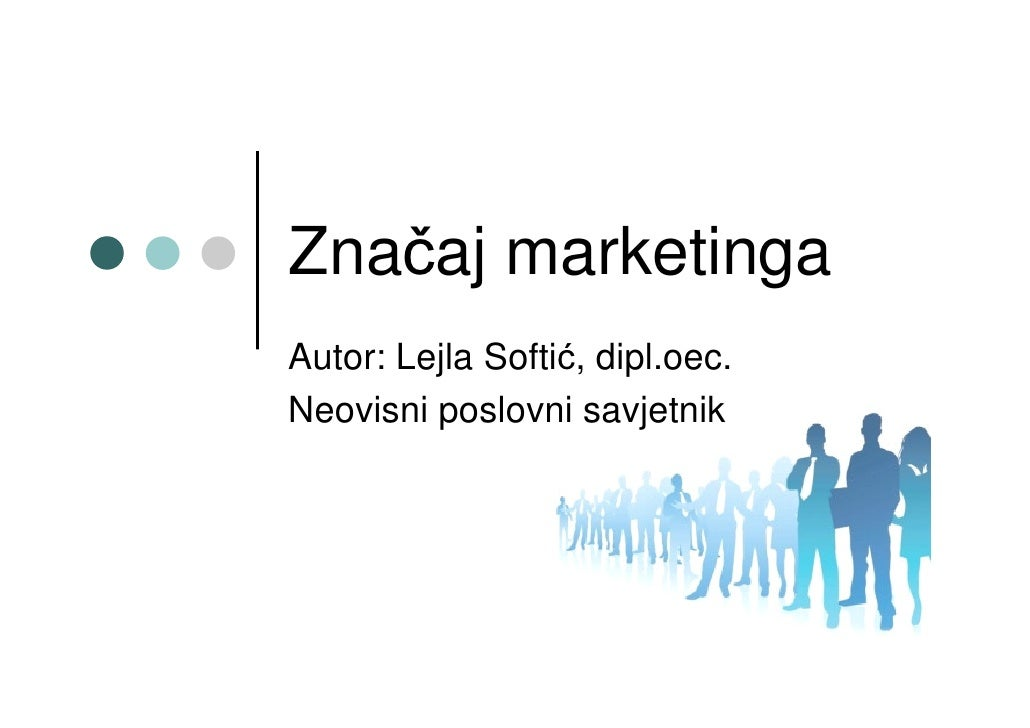 Značaj Marketinga
