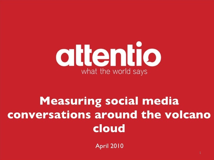 Measuring social media conversations around the volcano cloud April 2010