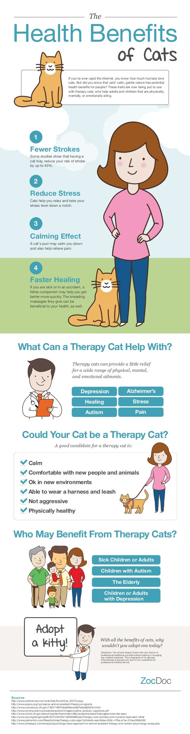 The  Health Benefits of Cats  If you've ever used the internet, you know how much humans love cats. But did you know that ...