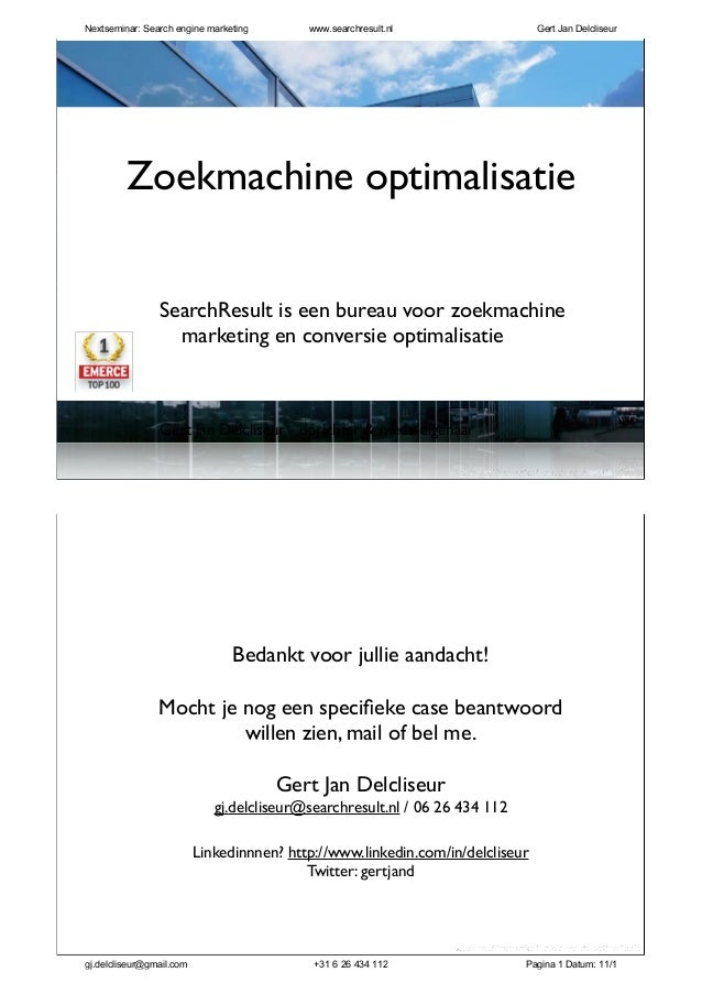 zoekmachinemarketing| conversie optimalisatie SearchResult is een bureau voor zoekmachine marketing en conversie optimalis...