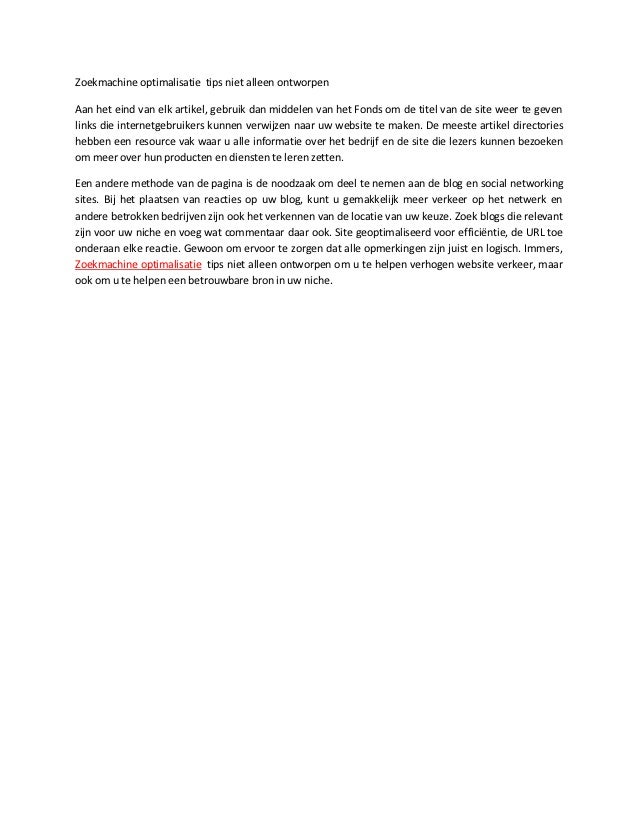 Zoekmachine optimalisatie tips niet alleen ontworpenAan het eind van elk artikel, gebruik dan middelen van het Fonds om de...