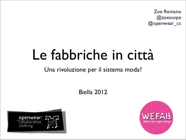 Zoe Romano                                           @zoescope                                         @openwear_ccLe fabb...