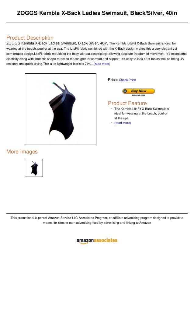 ZOGGS Kembla X-Back Ladies Swimsuit, Black/Silver, 40inProduct DescriptionZOGGS Kembla X-Back Ladies Swimsuit, Black/Silve...