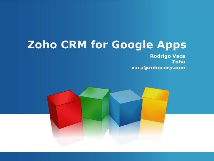 Zoho CRM for Google Apps Webinar