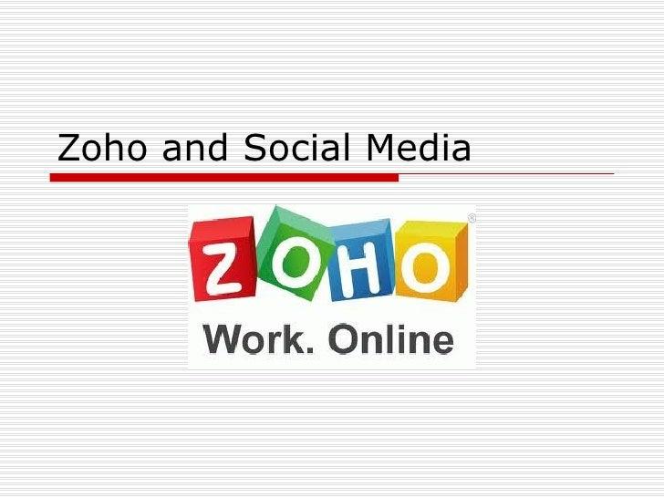 Zoho and Social Media