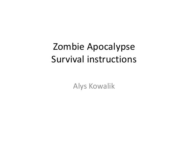 Zombie survival guide powerpoint youtube