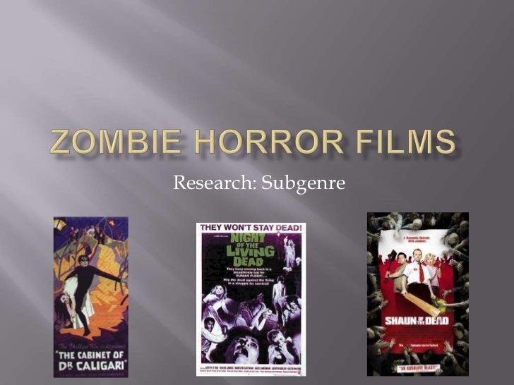 Zombie horror films