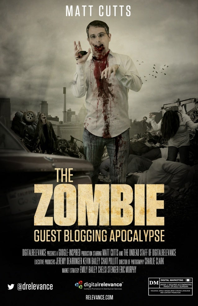 Matt Cutts Google Zombie Guest Blogging Apocalypse [MOVIE POSTER]